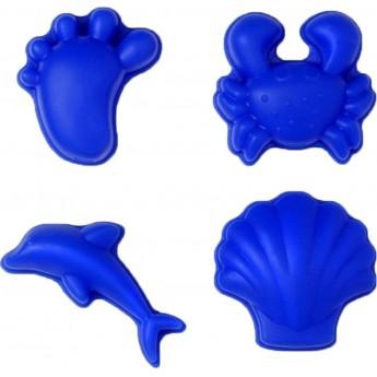 Silikonowe foremki do piasku +12m niebieskie 4 sztuk, Funkit World