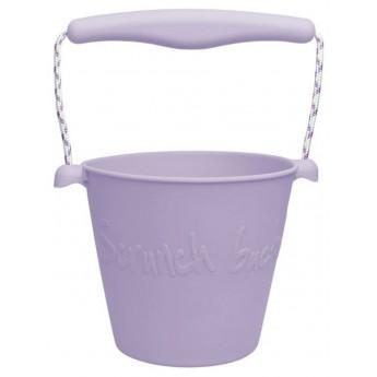 Wiaderko do piasku dla dzieci silikonowe lila Scrunch-Bucket