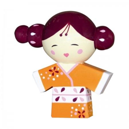 Kokeshi Akiko -Dziecko Jesieni, japońska laleczka drewniana