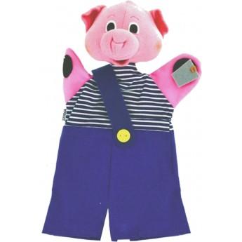 Świnka pacynka na rękę do teatrzyków dla dzieci, Anima Scena