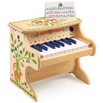 Djeco Pianino drewniane elektroniczne Animambo dla dzieci +3