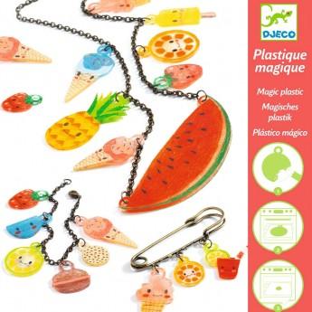 Djeco zestaw do robienia biżuterii z magicznego plastiku Sweet Treats