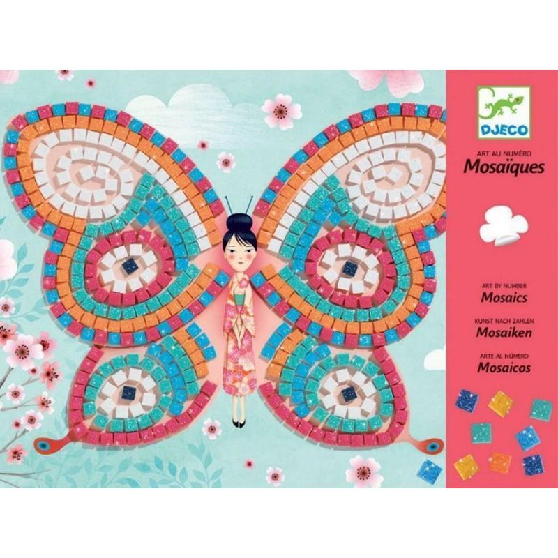Djeco Mozaika piankowa z brokatem dla dzieci Motylki