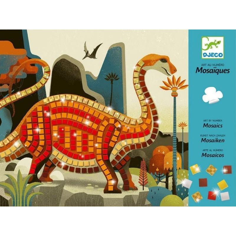 Djeco Mozaika piankowa błyszcząca dla dzieci Dinozaury