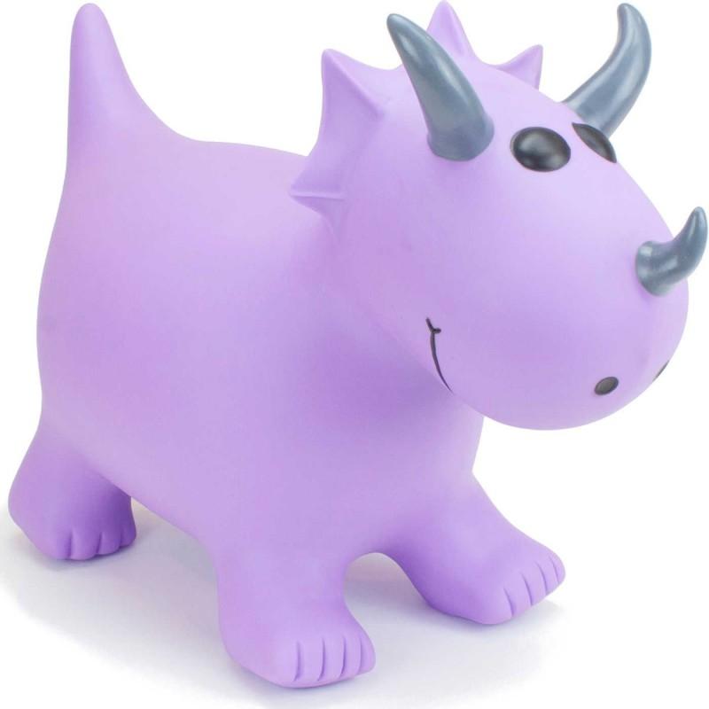 Skoczek gumowy Triceratops Fioletowy dla dzieci +12mc rozm. S/M, Happy Hopperz