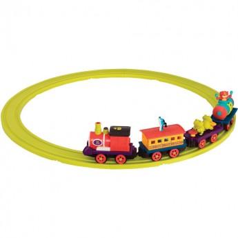 Muzyczny pociąg dla dzieci +3 kolejka z parowozem B.Toys