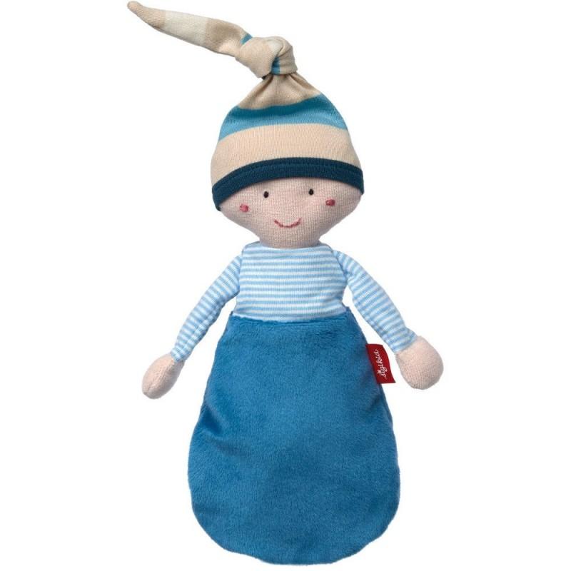 Sigikid Niebieska lalka szmacianka w śpiworku przytulanka +0m
