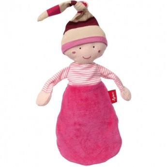 Sigikid Różowa lalka szmacianka w śpiworku przytulanka +0m