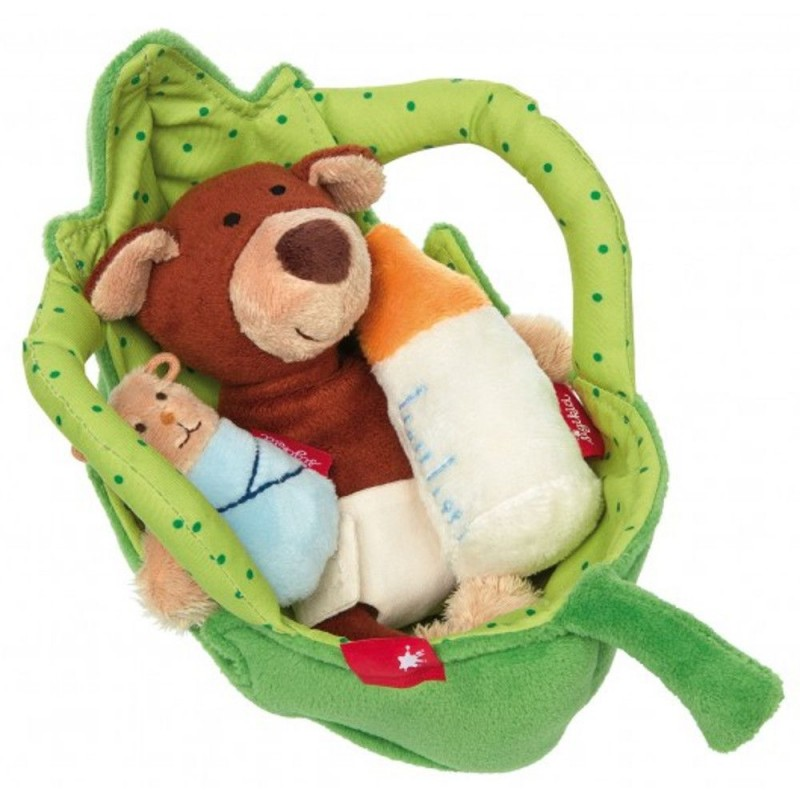 Miś w koszyku zabawka pluszowa dla niemowląt, Sigikid