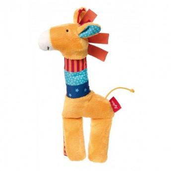 Grzechotka z piszczałką Żyrafa PlayQ dla niemowląt, Sigikid