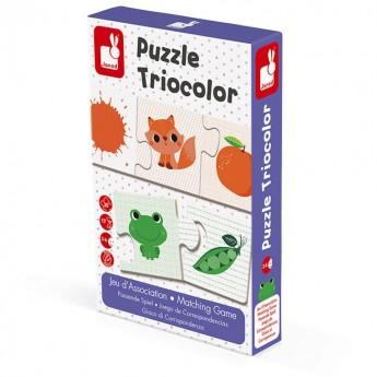 Trzyczęściowe puzzle Kolory 30 elementów, Janod -