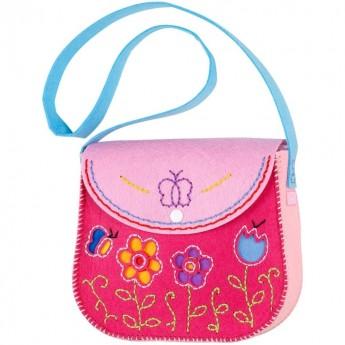 Zestaw do robienia różowej torebki z filcu +6, Souza!