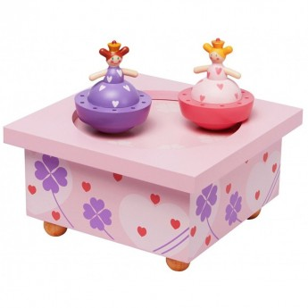 Musical Wooden Box Princess Sisters