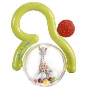 Żyrafa Sophie Grzechotka z truskawką dla niemowląt