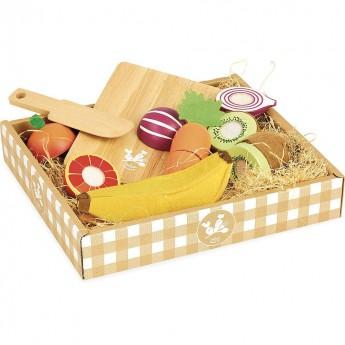 Vilac drewniane owoce i warzywa na rzep do krojenia zabawka