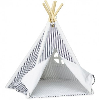 Vilac mały tipi namiot do zabawy z lalkami granatowy w paski