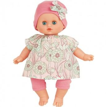 Lalka Bobas 28 cm Petit Calin strój w kwiatki +10m, Petitcollin