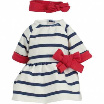 Ubranka dla lalek bobas 28cm wzór Rosalie, Petitcollin