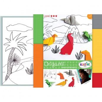 Origami dla dzieci +7 Scenka z Dinozaurami, Aladine