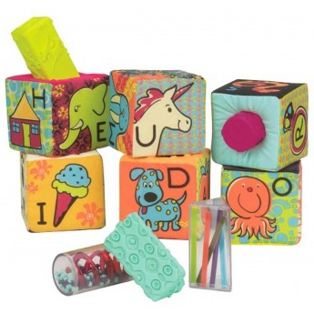 B.Toys Klocki sensoryczne i sorter dla niemowląt ABC Block Party