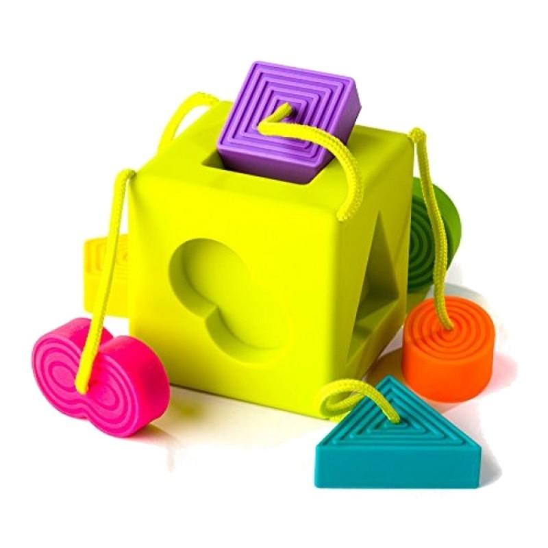 OmmbeeCube kostka sorter dla dzieci +10m, Fat Brain Toys