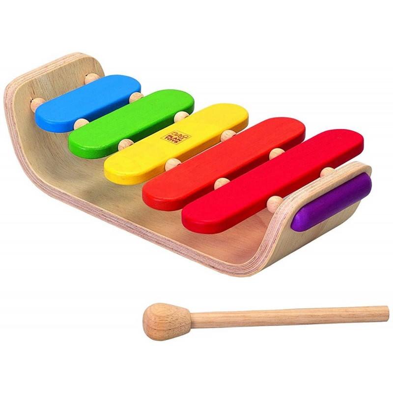 Drewniany cymbałki ksylofon zabawka od 12m, Plan Toys