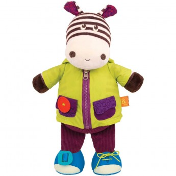 B.Toys Edukacyjna zebra do nauki ubierania się Zebb