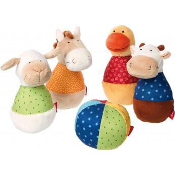 Sigikid Kręgle pluszowe dla niemowląt Farma PlayQ