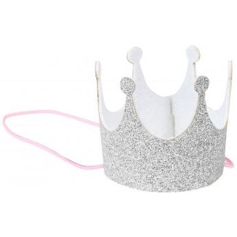 Korona urodzinowa srebrna dla niemowląt i małych dzieci, Souza!