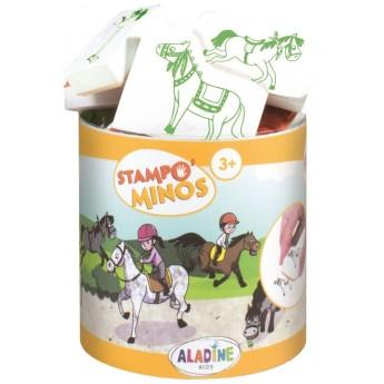 Aladine Stempelki piankowe dla dzieci +3 lat Jeździectwo