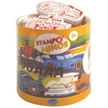 Aladine Stempelki piankowe dla dzieci +3 lat Wyścigówki