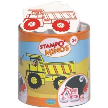 Aladine Stempelki piankowe dla dzieci +3 Pojazdy Budowlane