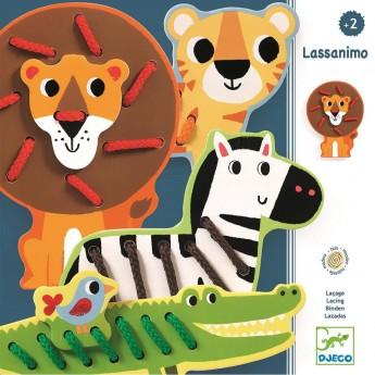 Djeco sznurowanki Lassanimo gra zręcznościowa dla 2 latka