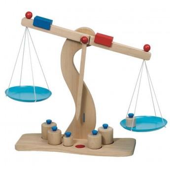 Drewniana waga szalkowa zabawka dla dzieci +3lat, Goki