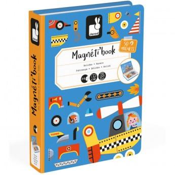 Janod Magnetibook magnetyczna układanka Pojazdy od 3 lat