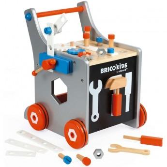 Janod Wózek warsztat z narzędziami Brico Kids od 3 lat