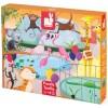 Janod Puzzle sensoryczne 20 elementów Wycieczka do Zoo