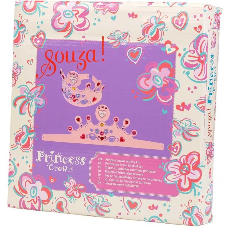 Zestaw do robienia różowej korony księżniczki dla dzieci, Souza!