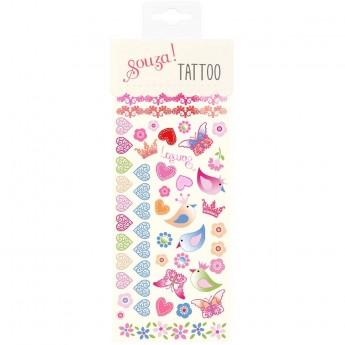 Tatuaże zmywalne dla dzieci Ptaki i Serduszka, Souza!