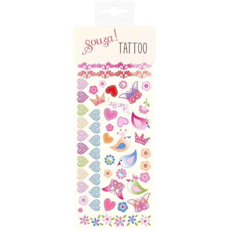 Tatuaże Zmywalne Dla Dzieci Ptaki I Serduszka Souza