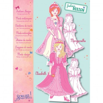 Papierowe lalki do ubierania Księżniczki zabawka plastyczna, Souza!