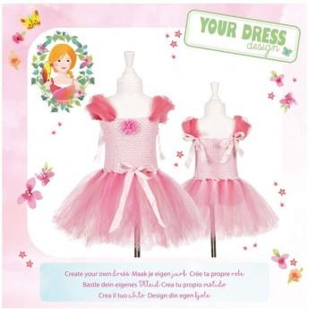Zestaw do robienia różowej sukienki bez szycia, rozm. 6-7 lat, Souza!