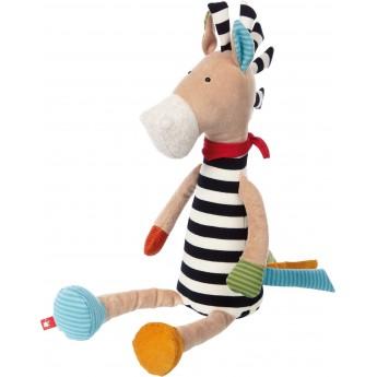 Wielka sensoryczna Zebra Patchwork World zabawka dla niemowląt, Sigikid