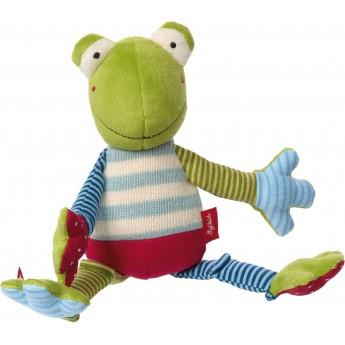 Sensoryczna Żabka Patchwork World zabawka dla niemowląt, Sigikid