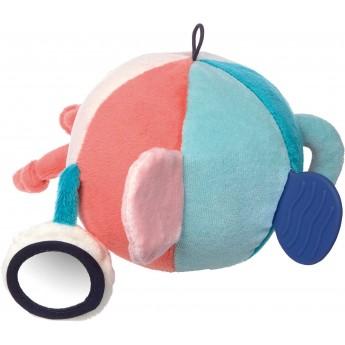 Piłka manipulacyjna różowo-niebieska dla niemowląt, Sigikid