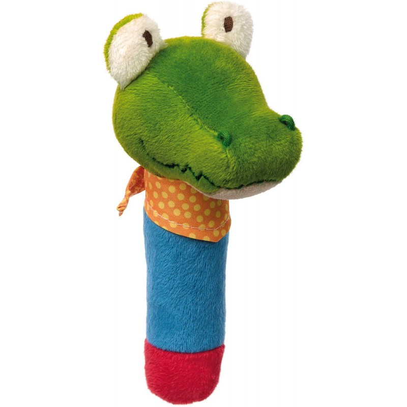 Piszczałka Krokodyl z chustką PlayQ dla niemowląt, Sigikid