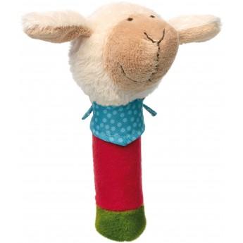 Piszczałka Owieczka z chustką PlayQ dla niemowląt, Sigikid