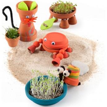 Zwierzęta z Doniczek zestaw kreatywny dla dzieci +6, Radis et Capucine