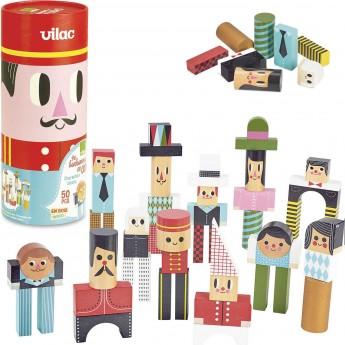 Klocki drewniane kolorowe 50 sztuk Ludzie -Ingela P.Arrhenius, VIlac
