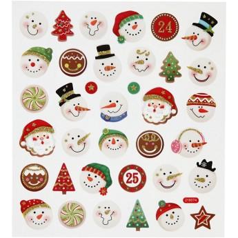 Naklejki Buźki Świąteczne z brokatem, Creativ Company